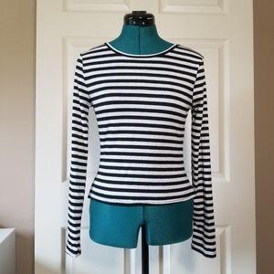 rue21 bnw striped long sleeve tee